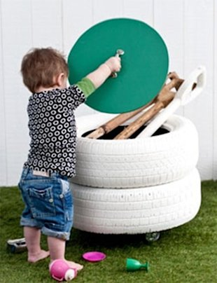 Tire Toy Storage