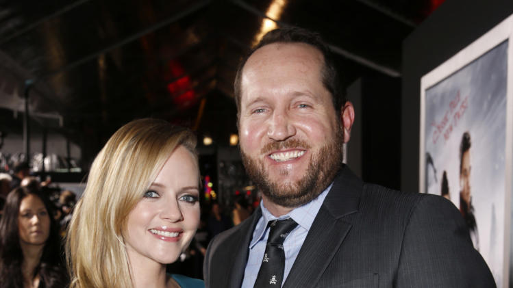 "Marley Shelton and Producer Beau Flynn attend the premiere of ""Hansel & Gretel Witch Hunters"" on Thursday Jan. 24, 2013, in Los Angeles.  (Photo by Todd Williamson/Invision/AP)"