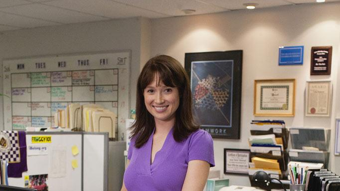"Ellie Kemper as Kelly Erin Hannon in ""The Office."""