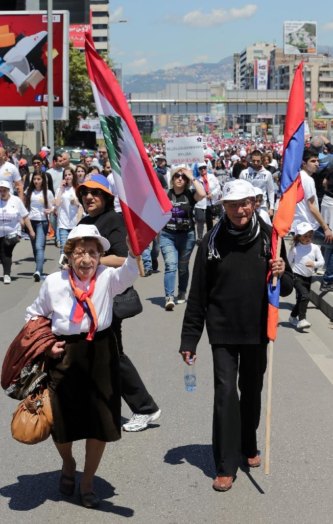 Thousands of Lebanese Armenians march on massacre centenary