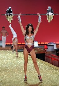 Models flaunt their hard work at the Victoria's Secret Fashion Show, airing Nov. 30 on CBS. (Photo by Theo Wargo/Getty Images)