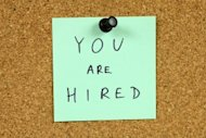 you are hired post-it
