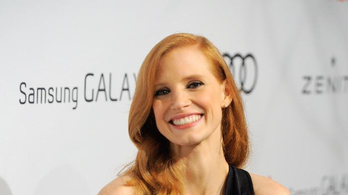 Jessica Chastain arrives at The Hollywood Reporter Nominees' Night at Spago on Monday, Feb. 4, 2013, in Beverly Hills, Calif. (Photo by Chris Pizzello/Invision for The Hollywood Reporter/AP Images)