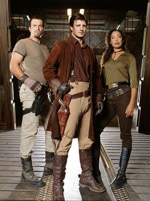 "Adam Baldwin, Nathan Fillion and Gina Torres Fox's ""Firefly"" Firefly"