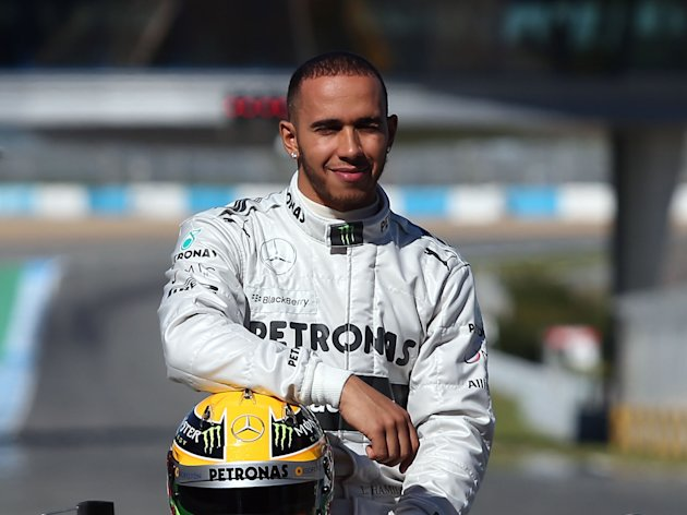 File photo dated 04/02/2013 of Great Britain's Lewis Hamilton during the Mercedes F1 W04 Launch at Circuito de Jerez, Jerez, Spain.