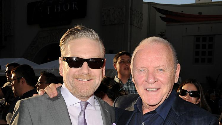 Thor LA Premiere 2011 Anthony Hopkins Kenneth Branagh