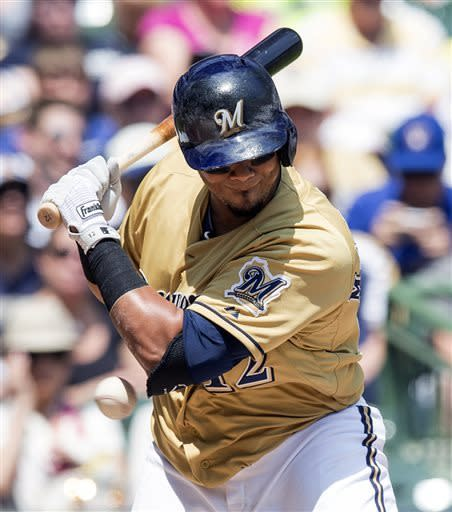 Gomez, Lohse lead Brewers past Phillies 9-1