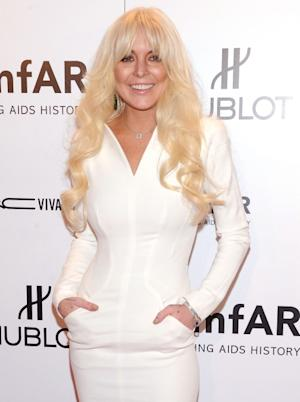 Lindsay Lohan attends the amfAR New York Gala To Kick Off Fall 2012 Fashion Week Presented By Hublot at Cipriani Wall Street on February 8, 2012 in New York City -- Getty Images