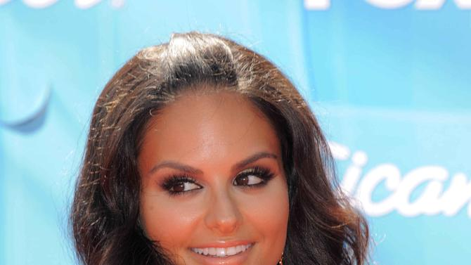 Pia Toscano arrives at the American Idol Finale on Wednesday, May 23, 2012 in Los Angeles. (Photo by Jordan Strauss/Invision/AP)