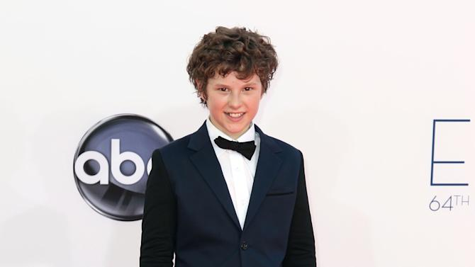 Actor Nolan Gould arrives at the 64th Primetime Emmy Awards at the Nokia Theatre on Sunday, Sept. 23, 2012, in Los Angeles. (Photo by Matt Sayles/Invision/AP)