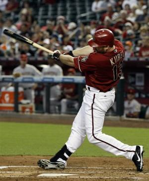 Kubel, Young hit home runs; D-backs sweep Houston