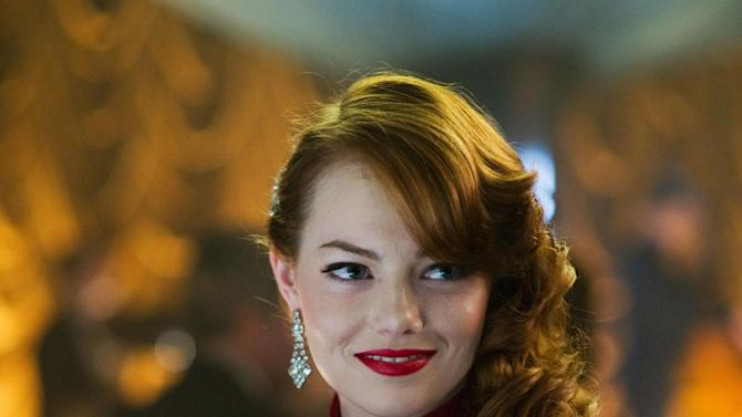 """This film image released by Warner Bros. Pictures shows Emma Stone, as Grace Faraday in """"Gangster Squad."""" (AP Photo/Warner Bros. Pictures, Wilson Webb)"""