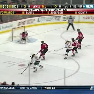 Cory Schneider Save on Daniel Paille (01:18/1st)