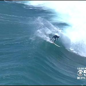Surfers Flock To Huge Waves Off SoCal Coast