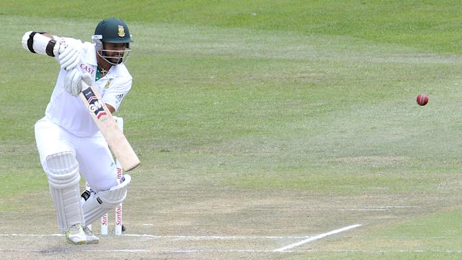 South Africa's batsman Ashwell Prince plays a stroke on December 29, 2011 during a Test match in Durban