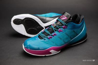 Embracing the teal and pink of Chris Paul's new signature shoe