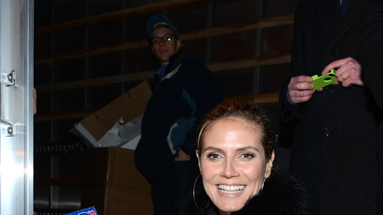 Heidi Klum Teams With AOL And The American Red Cross To Benefit Hurricane Sandy Relief Efforts