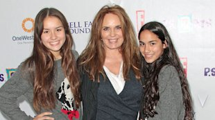 Catherine Bach with her daughters, Sophia (left) and Laura
