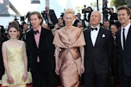"From L: US actress Kara Hayward, US director Wes Anderson, British actress Tilda Swinton, US actor Bruce Willis and US actor Edward Norton pose as they arrive for the screening of ""Moonrise Kingdom"" and the opening ceremony of the 65th Cannes film festival"