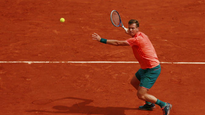 Tennis: Men's Singles - Czech Republic's Tomas Berdych in action during the first round