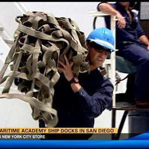 Cal Maritime Academy ship docks in San Diego