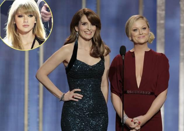 Tina Fey, Amy Poehler. Inset: Taylor Swift -- Getty Images