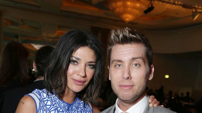 Jessica Szohr and Lance Bass at The L.A. Gay & Lesbian Center for 'An Evening Honoring Amy Pascal and Ralph Rucci', on Thursday, March, 21, 2013 in Beverly Hills. (Photo by Eric Charbonneau/Invision for  Sony Pictures Entertainment/AP Images)
