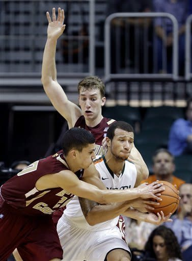 No. 8 Hurricanes beat Boston College 72-50