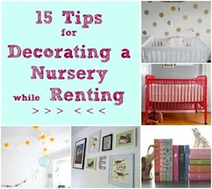 15 tips for decorating a nursery while renting!