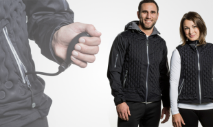 Inflatable jacket enables wearers to adjust its warmness according to the weather