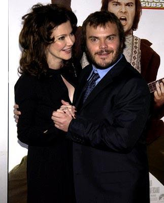 Premiere: Laura Kightlinger and Jack Black at the LA premiere of Paramount's The School of Rock - 9/24/2003