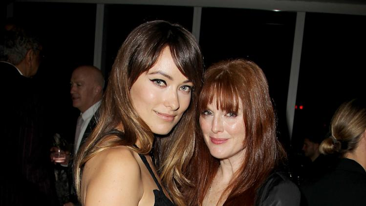"In this Nov. 14, 2011 photo, actresses Olivia Wilde, left, and Julianne Moore attend the after party for a special screening of the film ""Another Happy Day,"" in New York.  (AP Photo/Starpix, Amanda Schwab)"