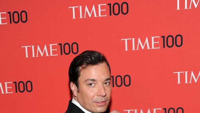 """Talk show host Jimmy Fallon attends the TIME 100 Gala celebrating the """"100 Most Influential People in the World"""" at Jazz at Lincoln Center on Tuesday April 23, 2013 in New York. (Photo by Evan Agostini/Invision/AP)"""