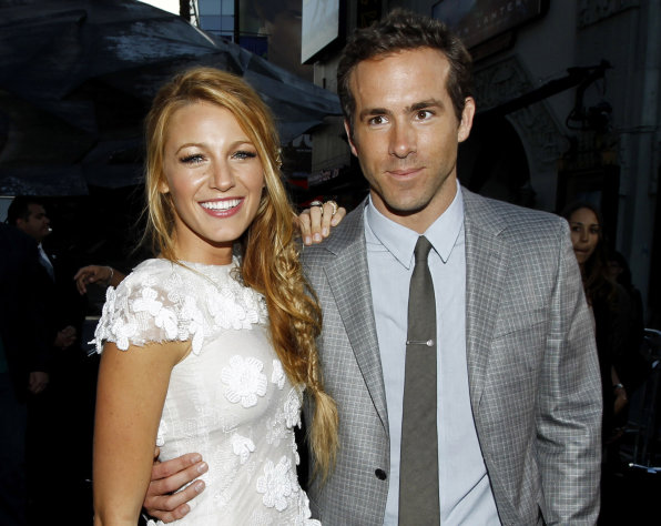 FILE - This June 15, 2011 file photo shows actors Blake Lively, left, and Ryan Reynolds at the premiere of &quot;Green Lantern&quot; in Los Angeles. Reynolds wed Blake Lively in Mount Pleasant, S.C., Sunday, Sept. 9, 2012, at Boone Hall Plantation, according to a person familiar with the ceremony who requested anonymity because they were not authorized to speak on the matter. While it&#39;s Lively&#39;s first marriage, Reynolds was previously married to Scarlett Johansson. Their divorce was finalized last summer after three years of marriage. Lively and Reynolds both starred in last year&#39;s Green Lantern. (AP Photo/Matt Sayles, file)