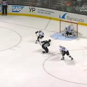 Brent Burns blasts one from the slot