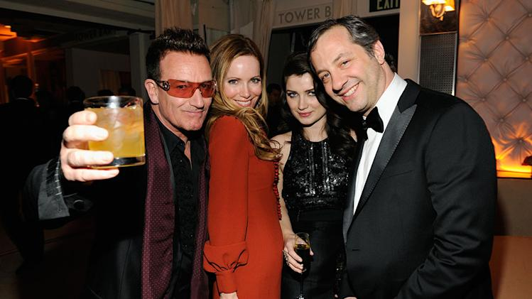 2013 Vanity Fair Oscar Party Hosted By Graydon Carter - Inside: Bono, Eve Hewson, Leslie Mann, and Judd Apatow