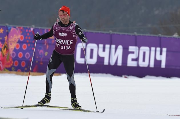 Crown Prince Frederik of Denmark Skiiing in Sochi