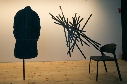A jacket is on display at the Design Museum Holon near the Israeli city of Tel Aviv. The geometric structures and angular light in the ultra-modern museum offer a made-to-measure setting for a new retrospective by avant-garde fashion maestro Yohji Yamamoto