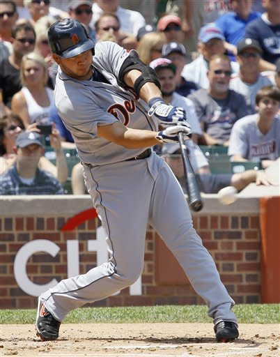 Verlander gets 1st win in month as Tigers top Cubs