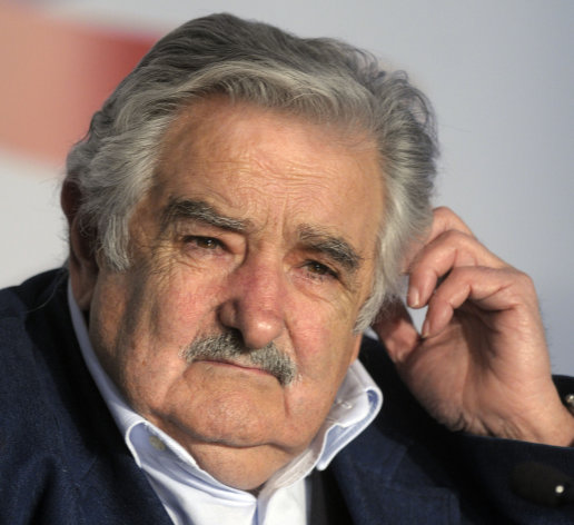 FILE - In this Oct. 27, 2011 file photo, Uruguay's President Jose Mujica attends a press conference at the presidential residence in Montevideo, Uruguay. Mujica's government plans to take a step beyond legalizing marijuana. It wants to sell it. Local news media and lawmakers report that the government plans to send a bill to Congress on Wednesday that would legalize marijuana sales as a crime-fighting measure. Only the government would be allowed to sell the marijuana cigarettes, and only to adults registered as users. (AP Photo/Matilde Campodonico, File)