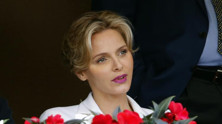 Princess Charlene of Monaco attends the final tennis match between Federer and Wawrinka of Switzerland at the Monte Carlo Masters in Monaco