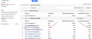 Findable Content Marketing: 3 Google Keyword Tool Tips image Sharable content marketing exact match