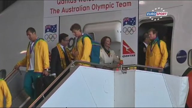 Australia Olympic team returns