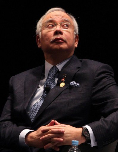 Something must've obviously come as a shock to Najib Razak