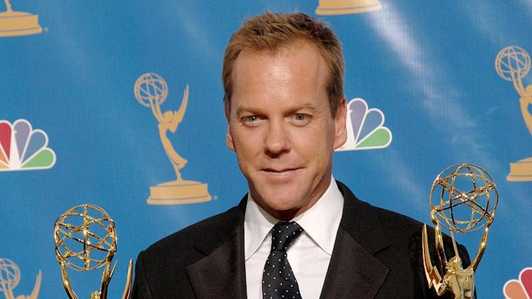 "Kiefer Sutherland, winner Outstanding Lead Actor in a Drama Series for ""24"" at the 58th Annual Primetime Emmy Awards."