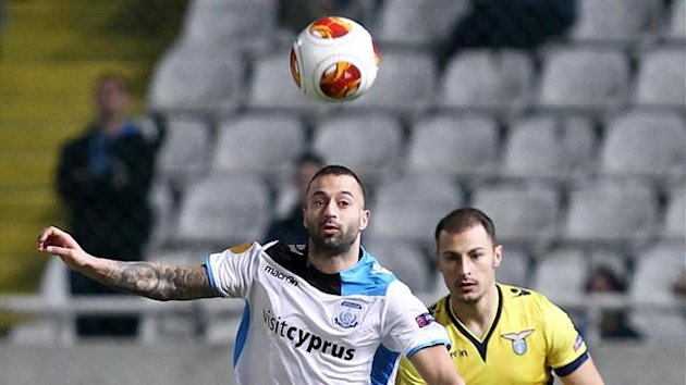 Lazio spurned a host of chances as they stuttered to a disappointing 0-0 draw with Apollon Limassol (AFP)