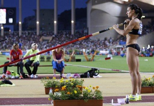 Yelena Isinbayeva will make her bow on the second day of the athletics programme of the Olympics on Saturday