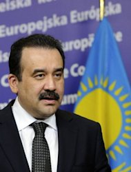 Kazakh leader Nursultan Nazarbayev on Monday asked Prime Minister Karim Massimov, seen here in May 2012, to head his powerful presidential administration amid ongoing jostling to succeed the veteran strongman