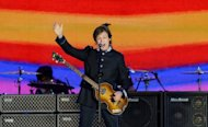 British singer Sir Paul McCartney performs on stage during the Queen's Diamond Jubilee Concert at Buckingham Palace in London