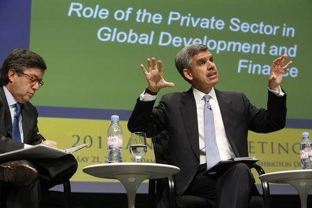 Moreno and El-Erian discuss the role of the private sector in global development during the Bretton Woods Committee annual meeting at World Bank headquarters in Washington